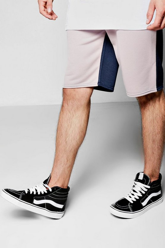 Half And Half Mid Length Shorts