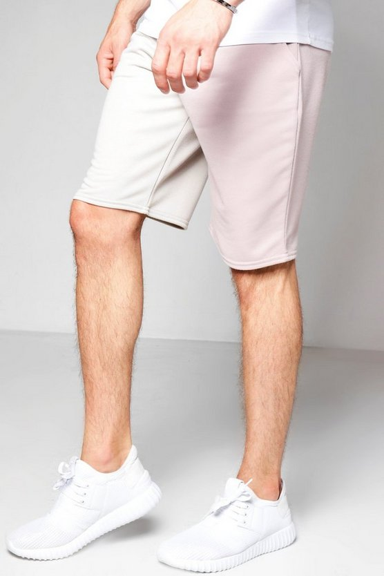 Colour Block Jersey Shorts