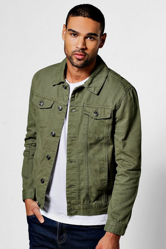Khaki 4 Pocket Denim Jacket