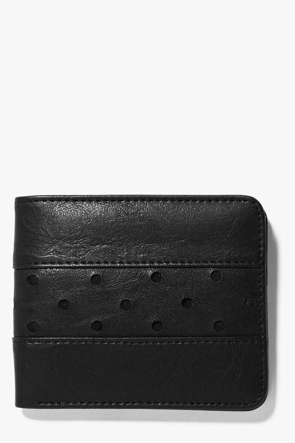 Perforated BiFold Wallet - black - PU Perforated B