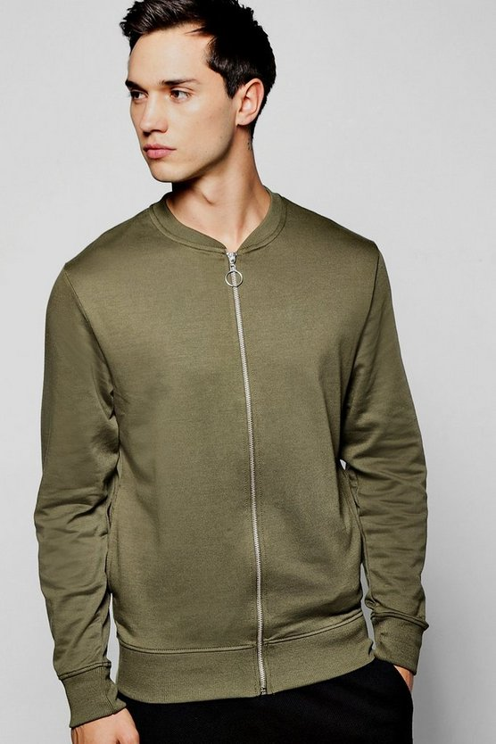 Jersey Bomber In Burnt Olive