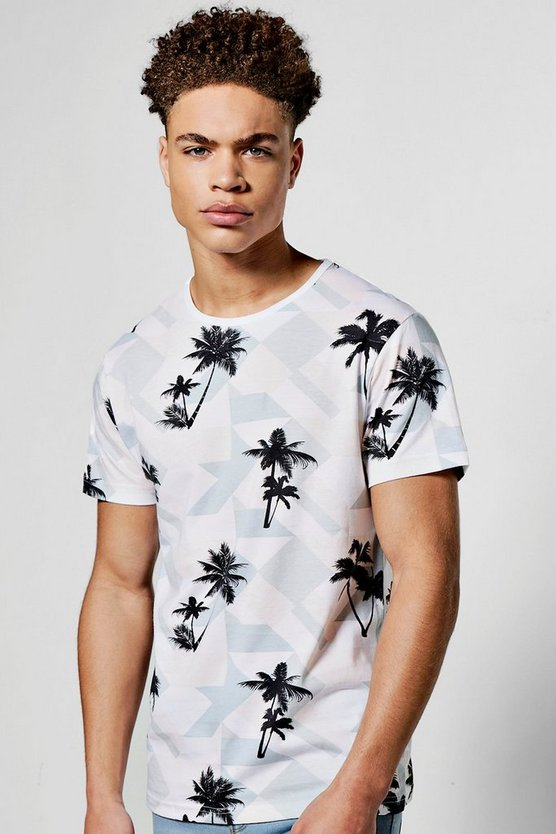 All Over Palm Print T Shirt