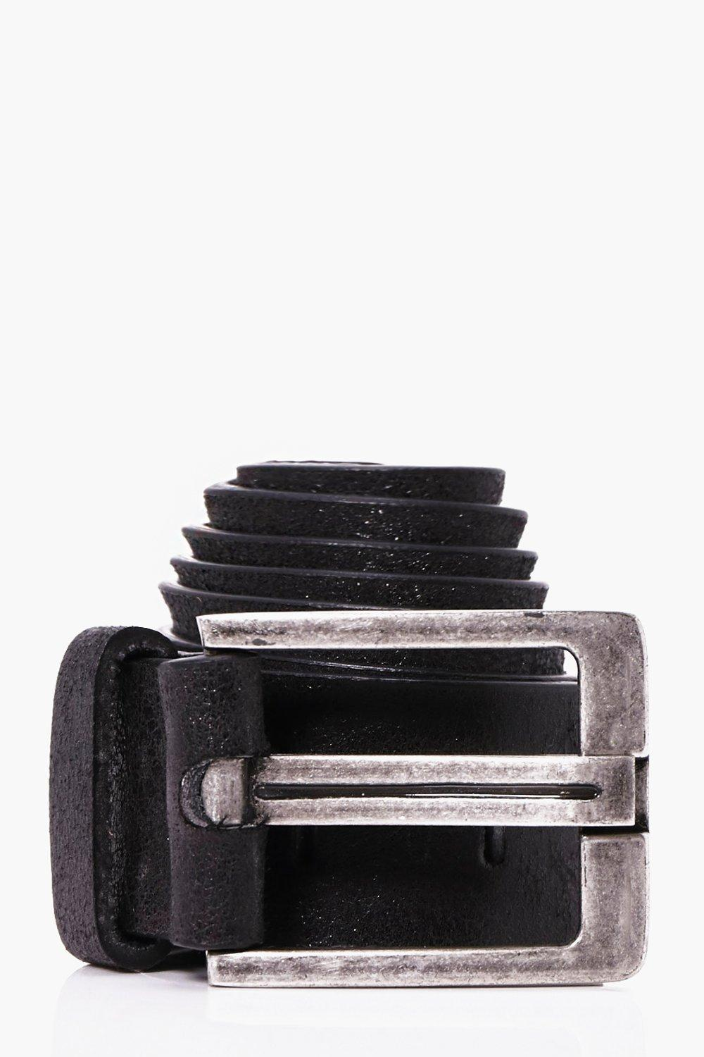 Hole Detail Belt - black - Punched Hole Detail Bel