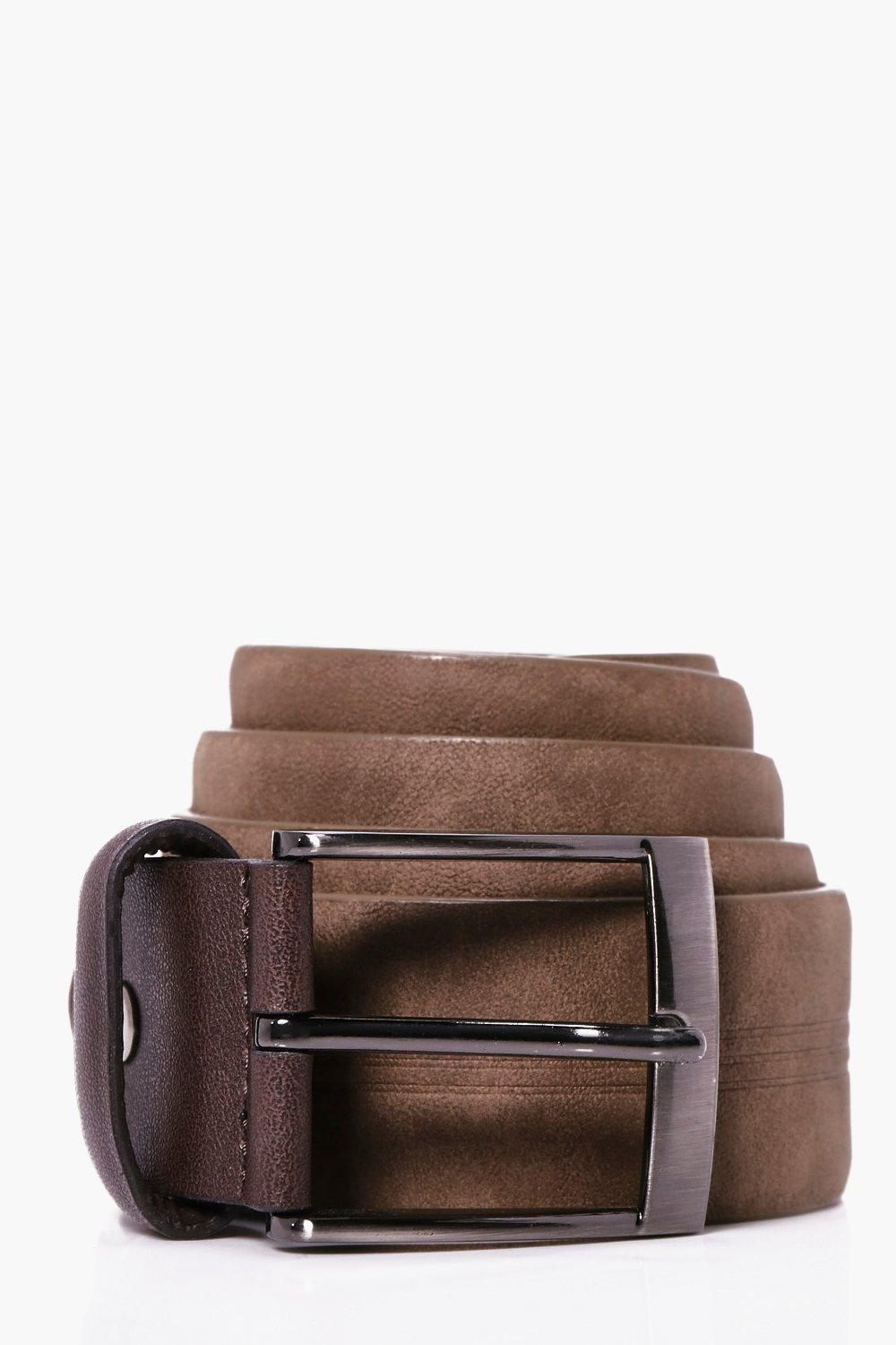 Belt With Metal Buckle - brown - PU Belt With Meta