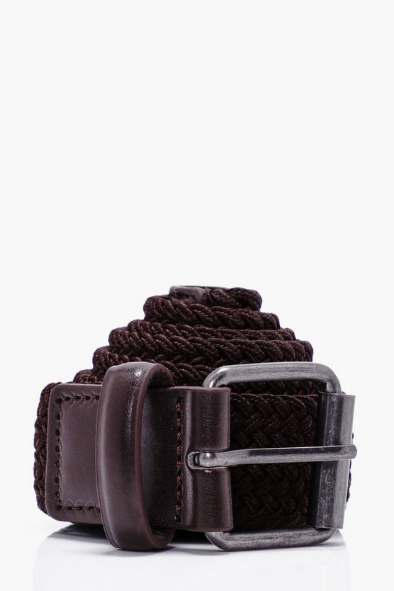 Stretch Belt With Metal Buckle