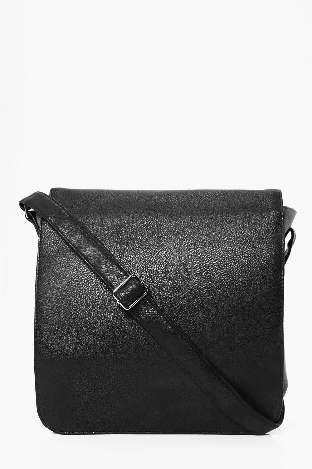 And PU MAN Bag - black - Canvas And PU MAN Bag - b