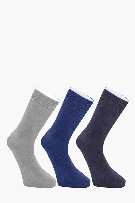 3 Pack Coloured Cotton Socks