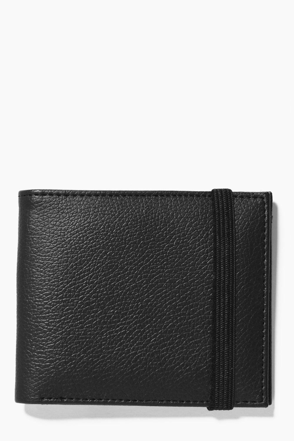 Look Billfold Wallet With Elastic Fastening - blac