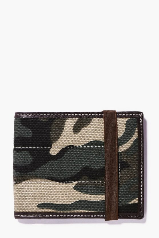 Camo Wallet With Elastic Fastening