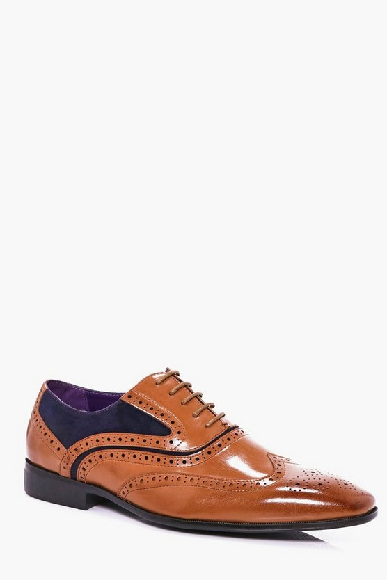 Mixed Panel Brogue