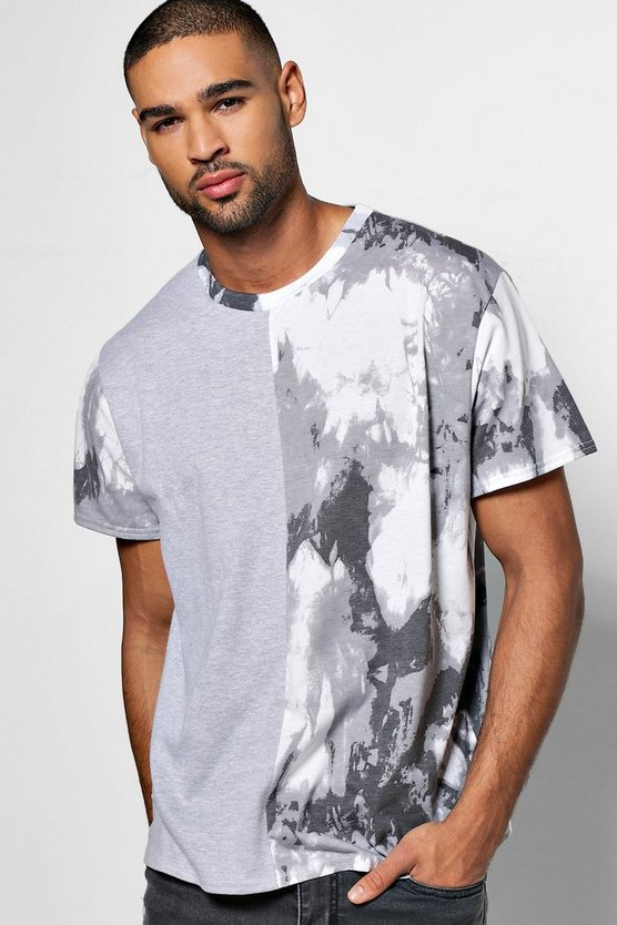 Tie Dye Oversized Spliced T Shirt