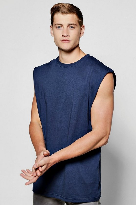 Sleeveless T Shirt With Drop Armhole