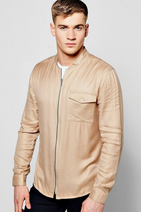 Long Sleeve Bomber Shirt