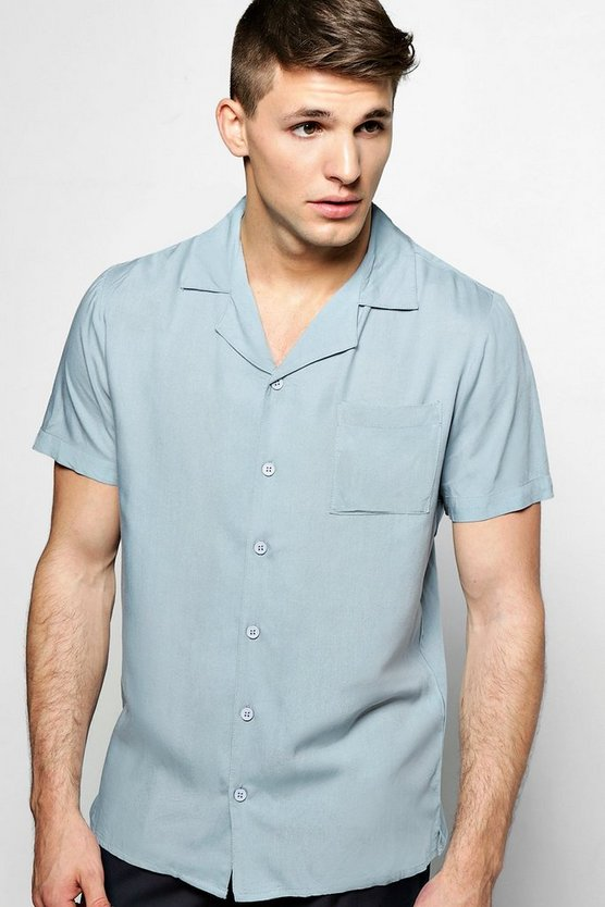 Short Sleeve Revere Collar Shirt