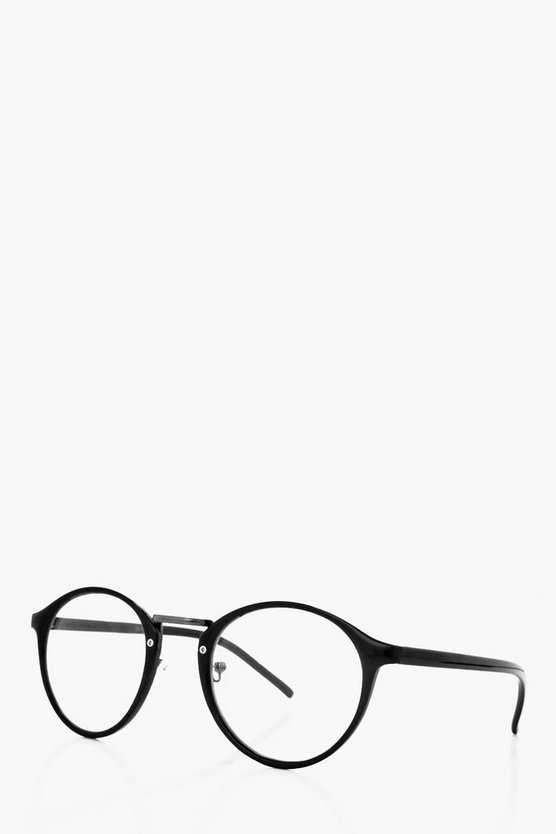 Clear Lense Round Frame Glasses
