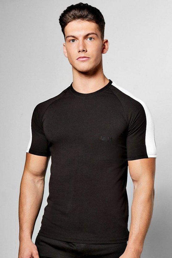 MAN Embroidered Muscle Fit T Shirt
