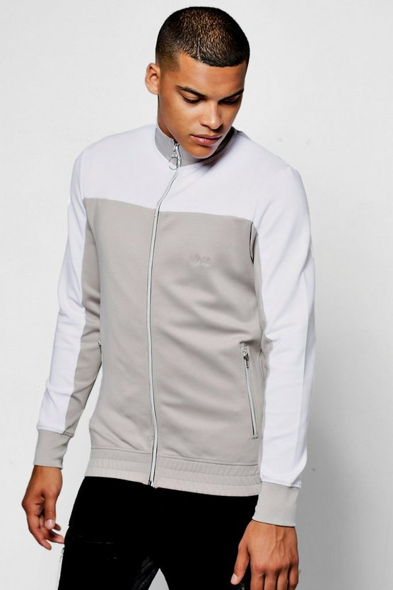 Colour Block Track Top