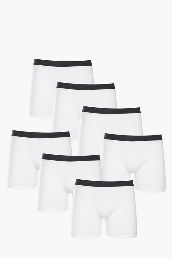 7 Pack Plain White Trunks