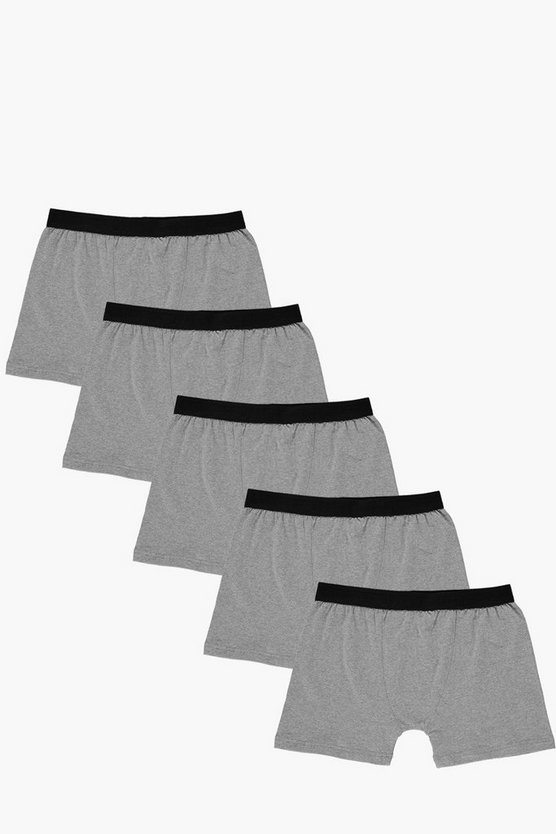 5 Pack Plain Grey Trunks