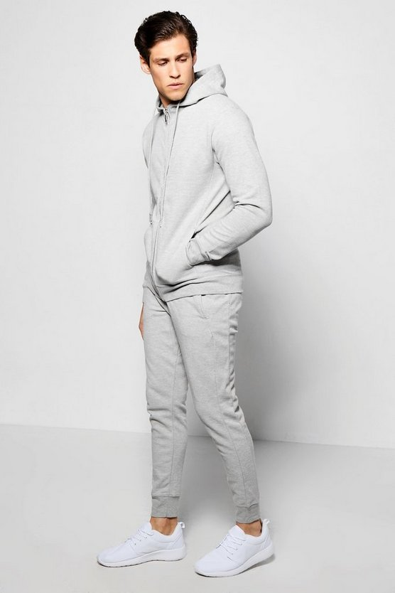 Skinny Fit Pique Tracksuit