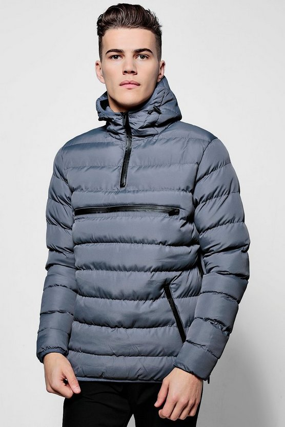 Over The Head Quilted Jacket