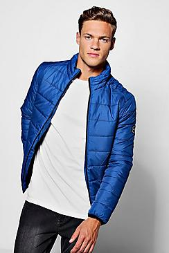 Zip Through Funnel Neck Quilted Jacket