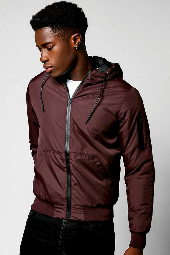 Hooded Padded Cagoule With MA1 Detailing