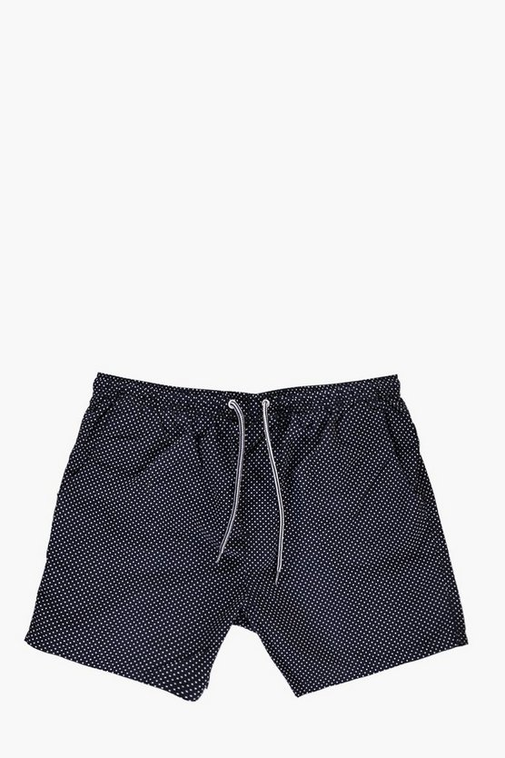 Short Length Polka Dot Swim Shorts