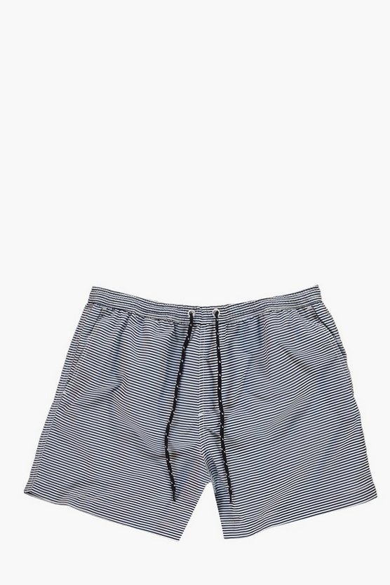 Short Length Striped Swim Shorts