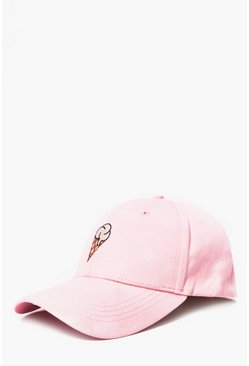 Ice Cream Embroidered Cap