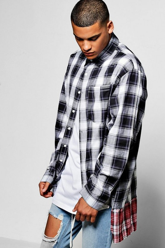 Long Sleeve Oversize Check Shirt
