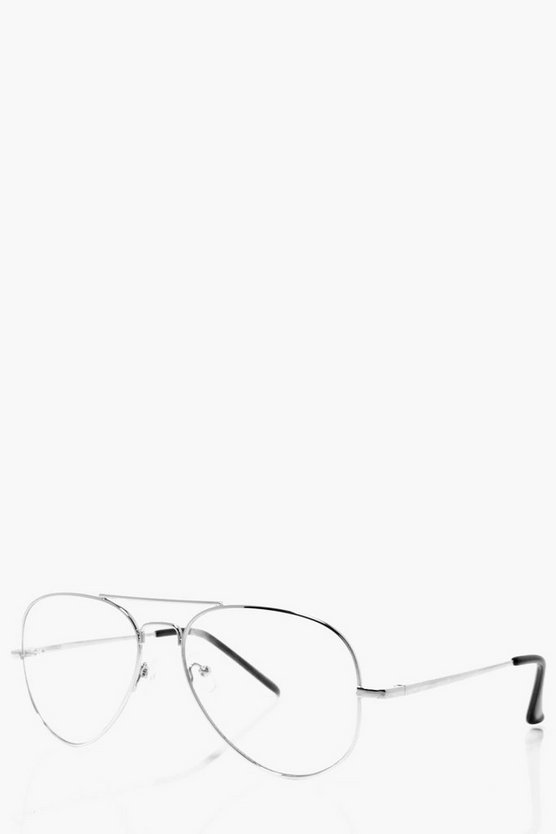 Clear Lense Aviator Glasses