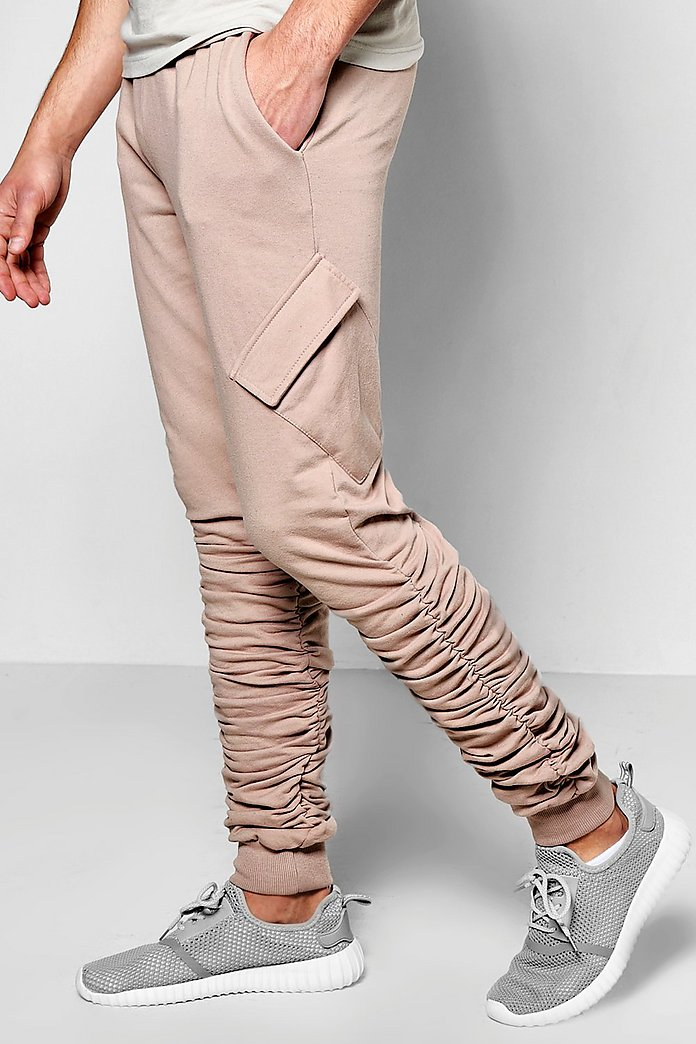 Twisted Ruched Cargo Jogger