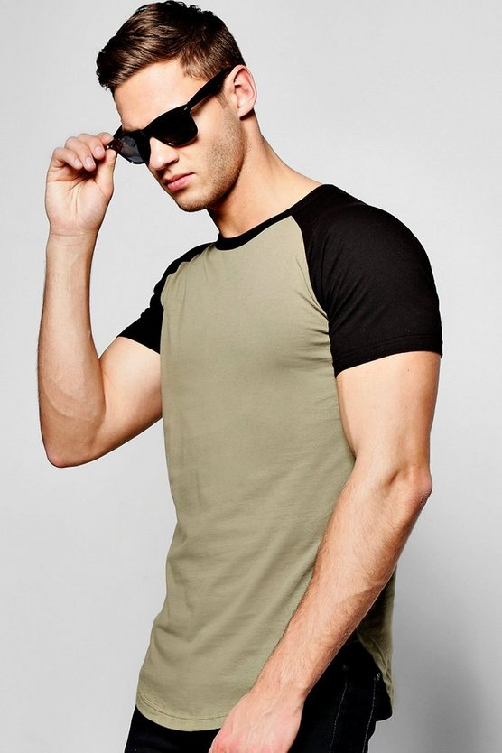 Raglan T-Shirt with Scoop hem