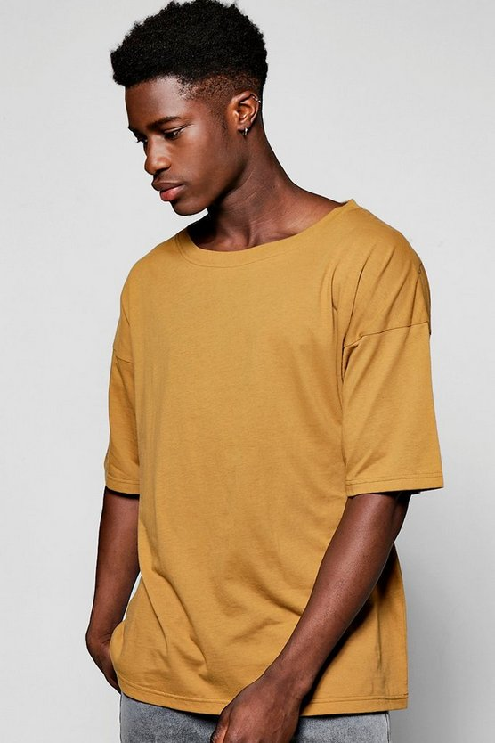 Wide Neck Oversized T Shirt