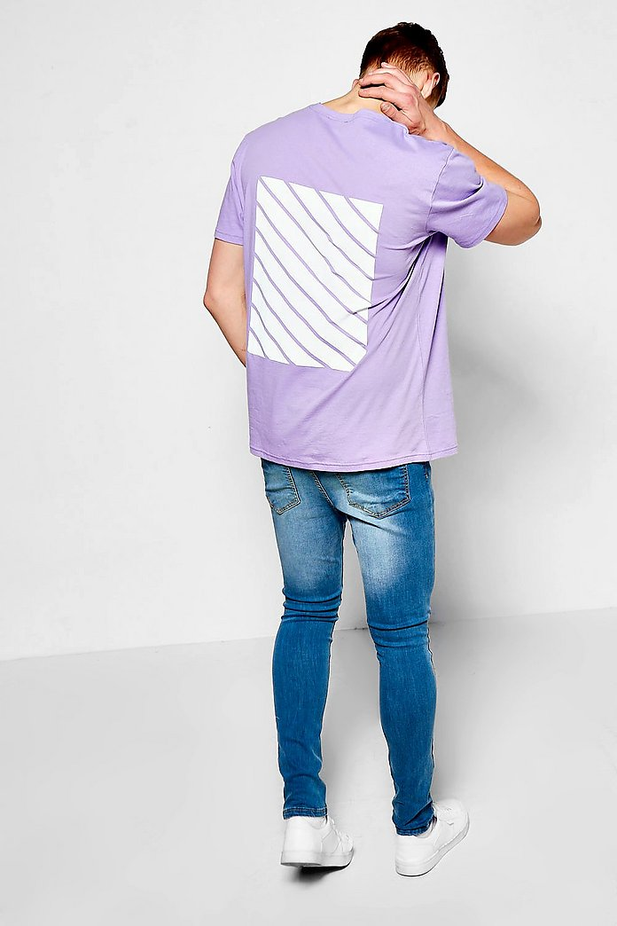 Oversized T Shirt With Back Print