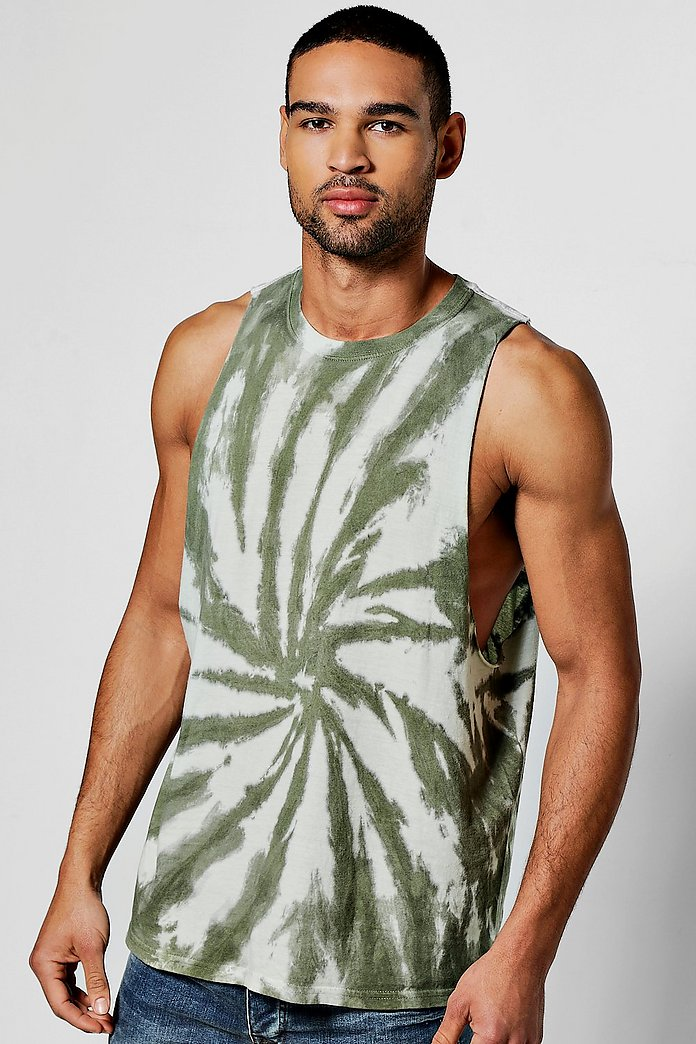 Tie Dye Sleeveless T Shirt