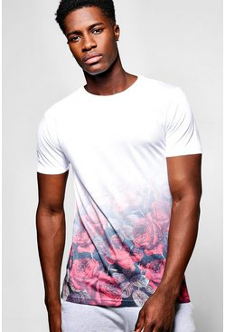 Rose Faded Sublimation T Shirt