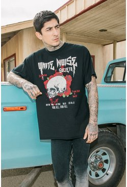 Oversized White Noise Reverse T Shirt