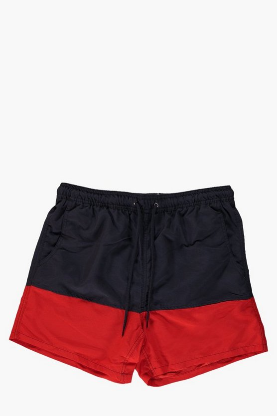 Colour Block Swim Shorts