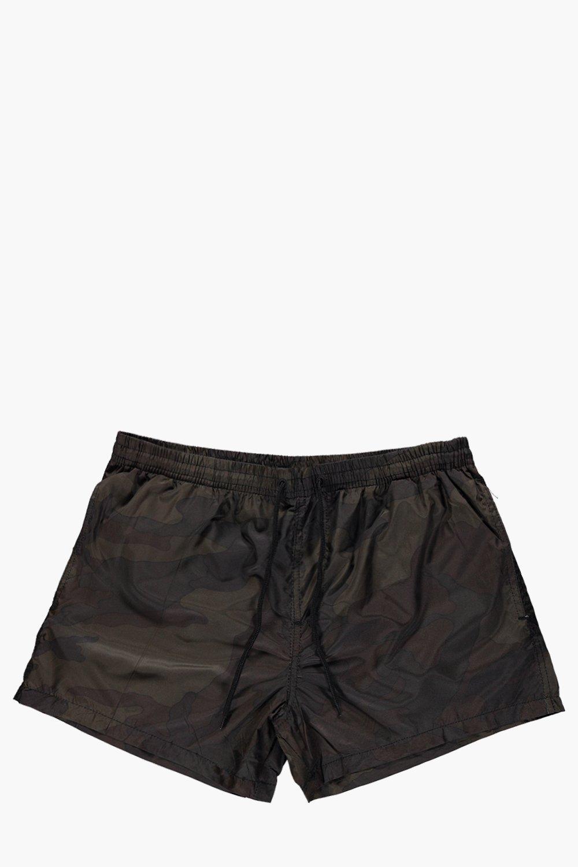 Print Swim Shorts  khaki