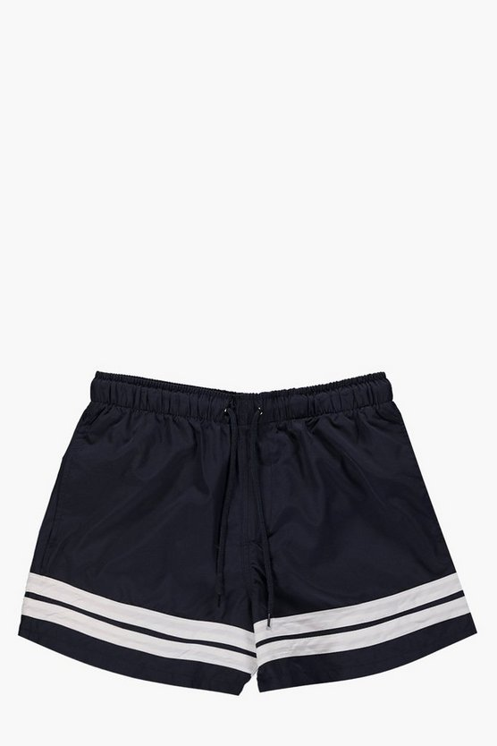 Contrast Stripe Swim Shorts