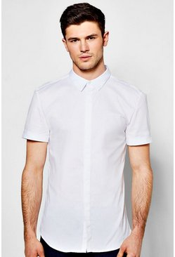 Slim Fit Short Sleeve Stretch Shirt