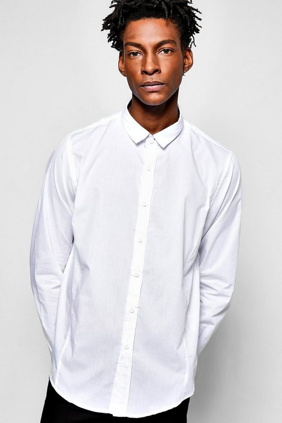 Plain Poplin Long Sleeve Shirt