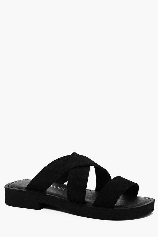Real Suede Strap Sandal