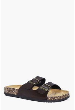 Double Strap Faux Leather Sandal