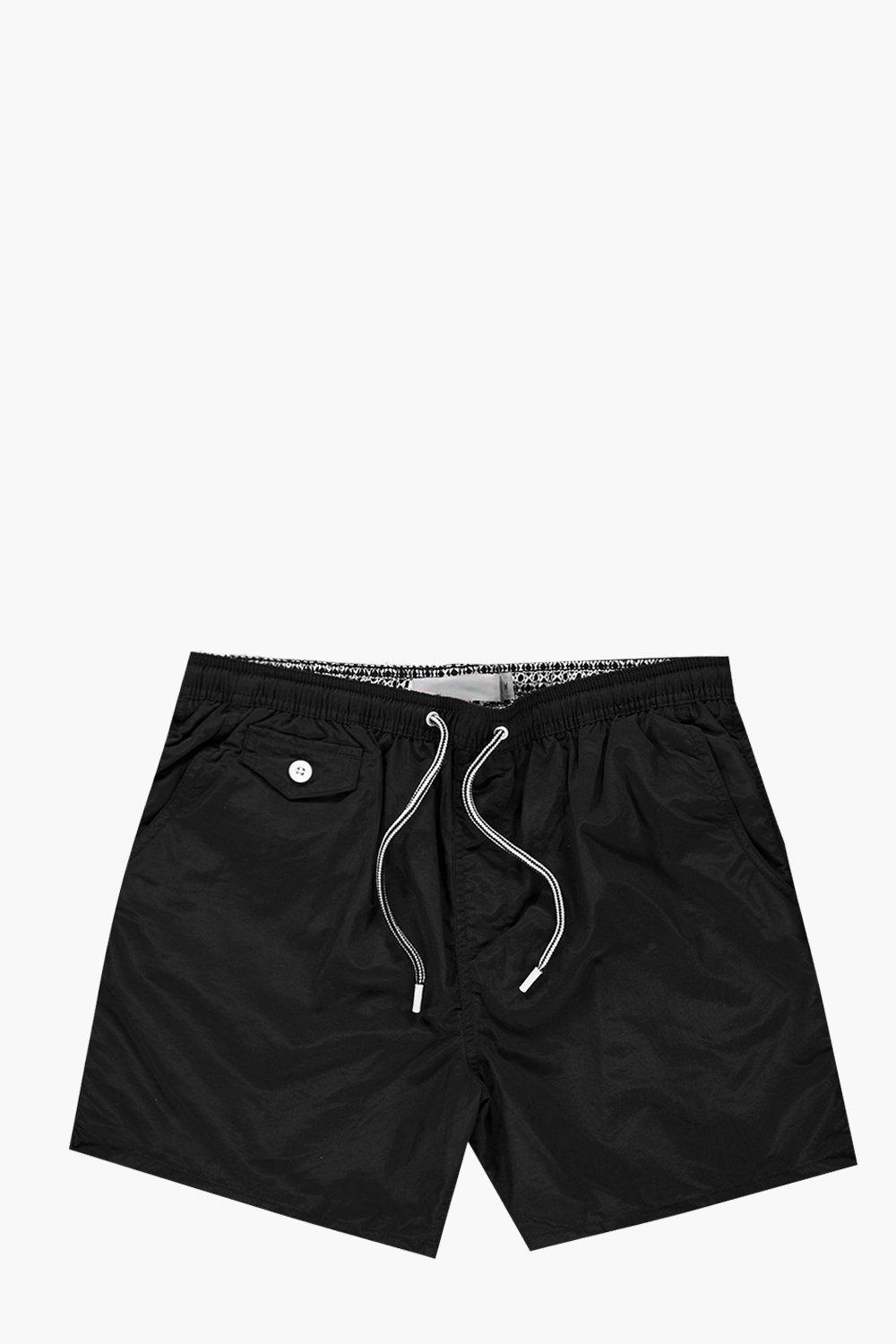 Mid Length Drawstring Swim Short