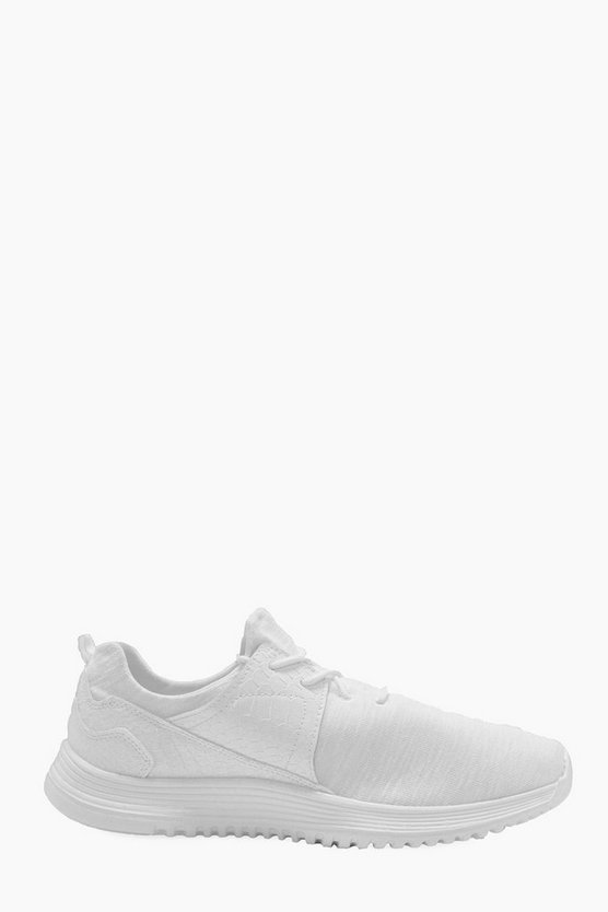 Faux Skin Running Trainers