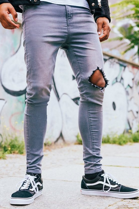 Spray On Skinny Jeans with Diamond Knee Rip
