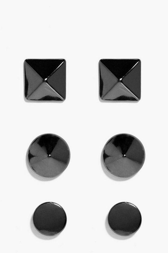 3 Pack Stud Earrings